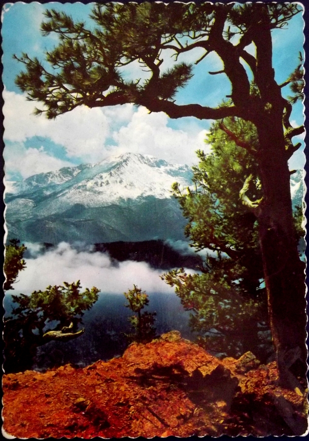 Mountain scenery postcard