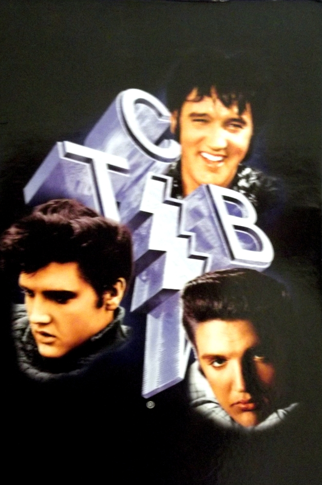 Elvis Presley picture with T.C.B. letters