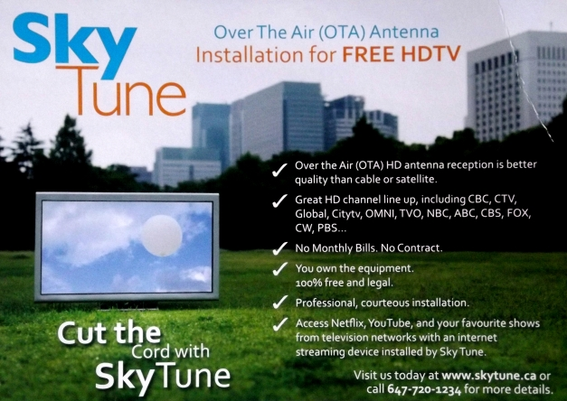 Promo card for Sky Tune TV services