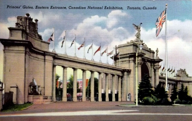 An arched colonnade in Toronto