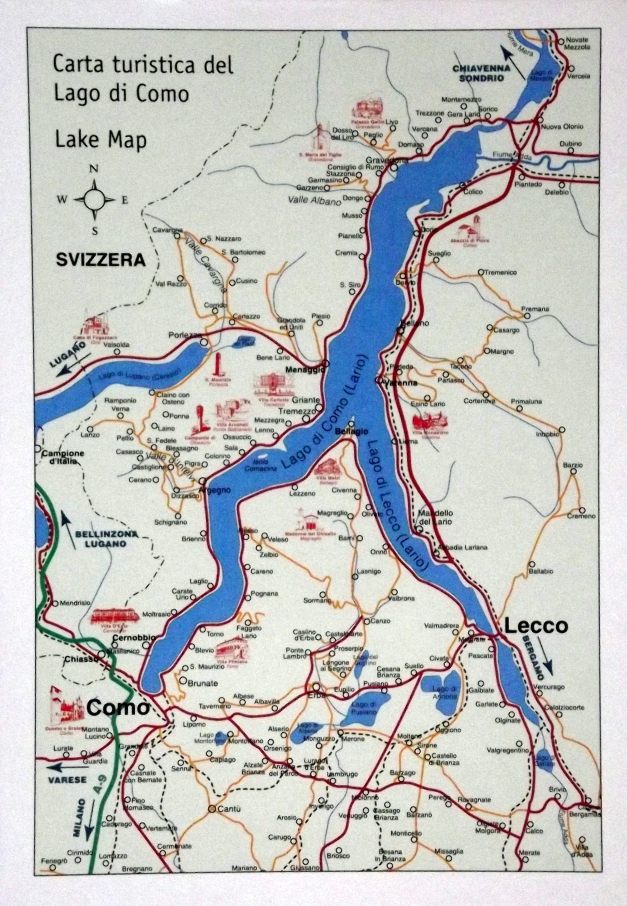 Map of Lake Como, Italy