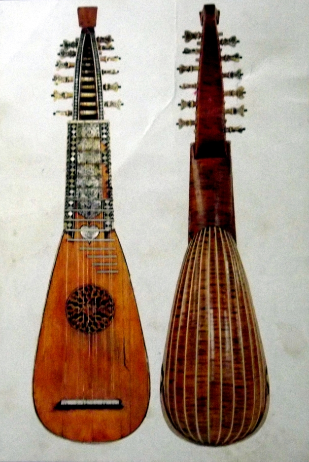 A photo of an old lute