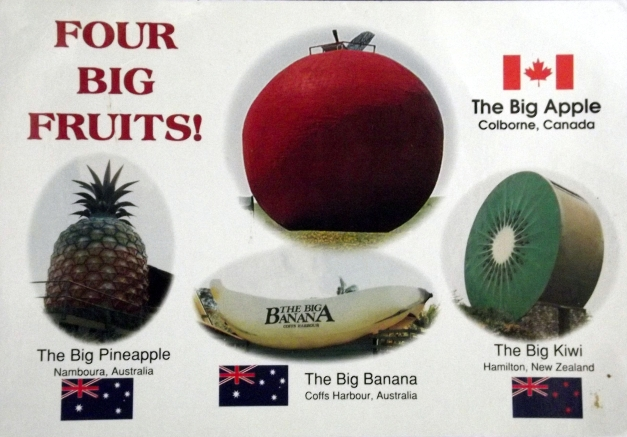 Four images of giant fruits from across the world