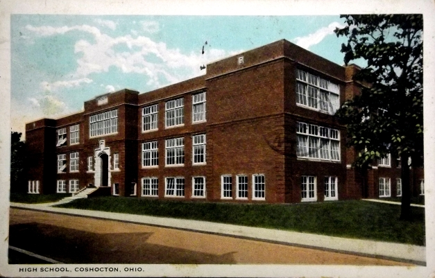 An old photo of a highschool