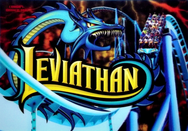 A roller coaster with a dragon called Leviathan