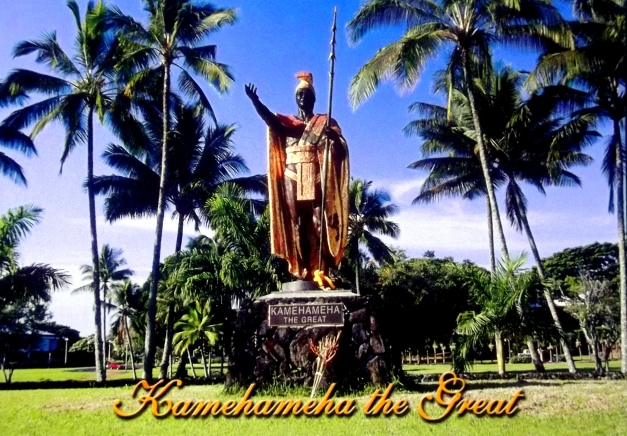 Golden statue of King Kamehameha the Great