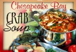 "Picture of a pot of soup with crap parts in it with the caption ""Chesapeake Bay Crab Soup"""