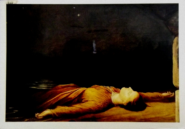 A paitinging of a dead Victorian-era person lying on the ground