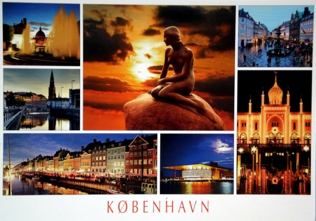 A collage of images of Copenhagen