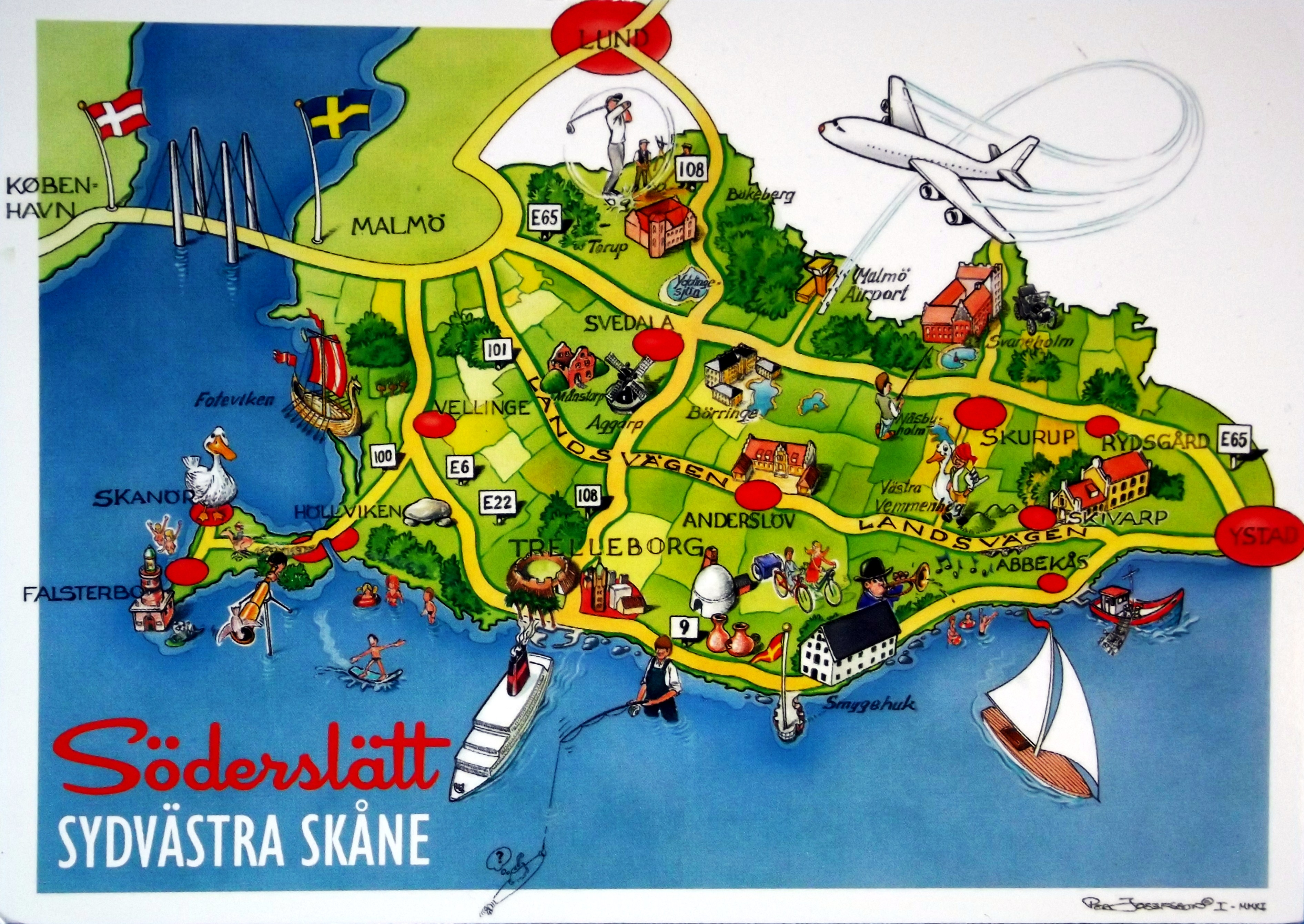 Map The Deltiology Deity - Sweden map in english