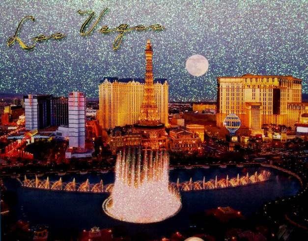 Vegas with shiny sky