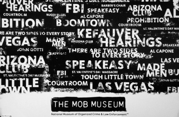 The Mob Museum - image of a word cloud of crime related terms