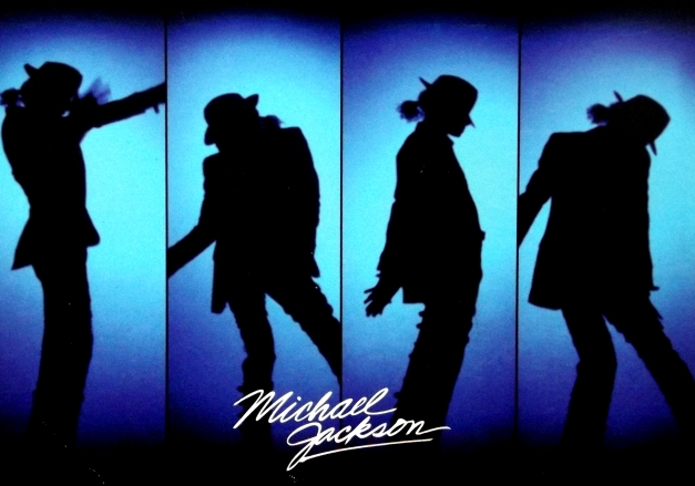 Silhouette images of Michael Jackson