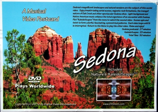 Image of rocky cliffs with the caption Sedona