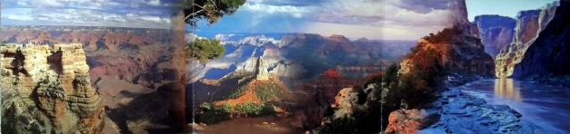 Grand Canyon panorama view (actually 3 images blurred together)
