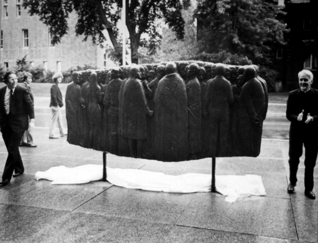 Photo of a sculpture of people