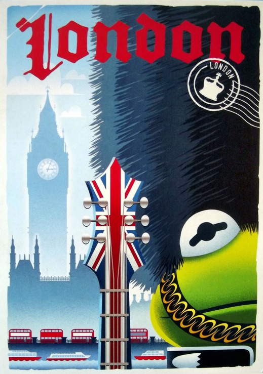 Kermit the Frog in a London guard outfit
