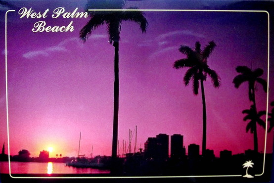 Sunset over West Palm Beach