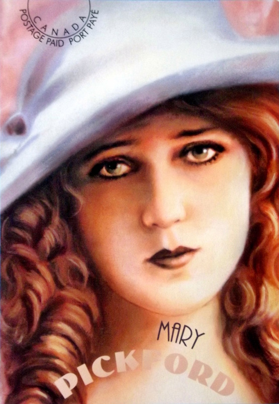 Illustration of Mary Pickford