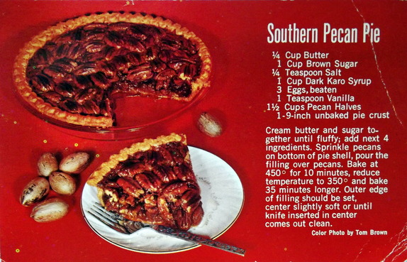 Picture of pecan pie with recipe
