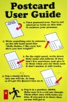 Step by step instructions for how a postcard works