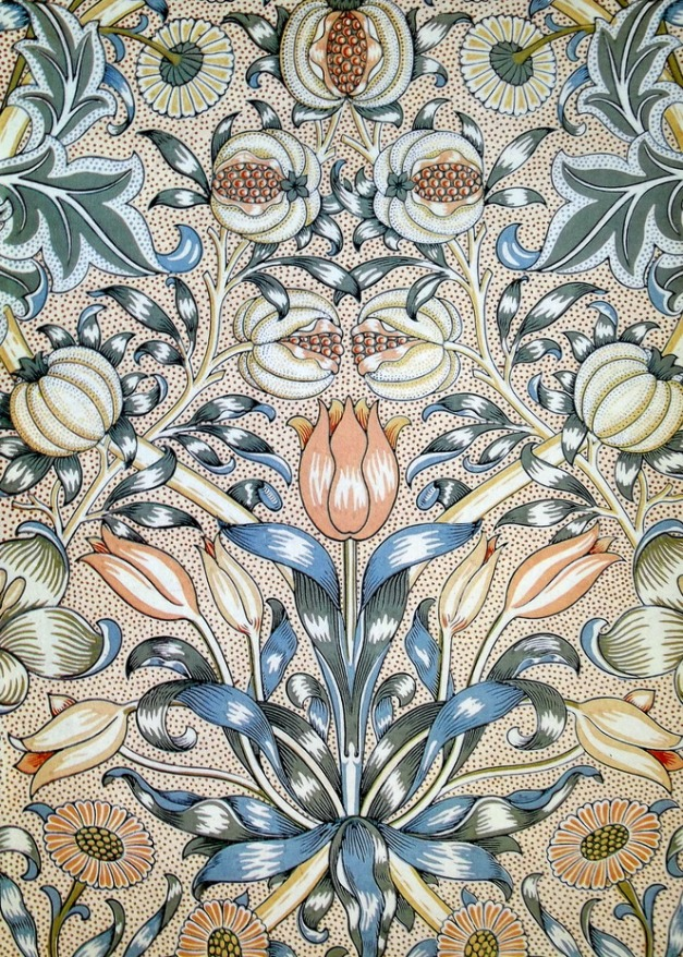"Lily and pomegranate"" by William Morris, from the Victoria and Albert Museum, London, England"