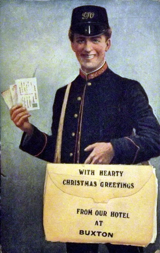 Old image of a postman