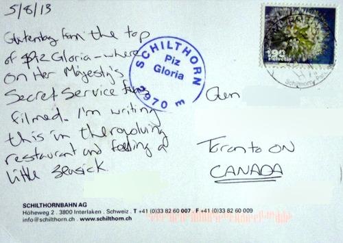 Back of postcard