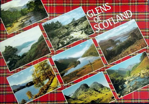 Various images of glens, with the caption