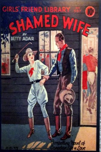 "repro of a dime novel romance called ""Shamed Wife"""