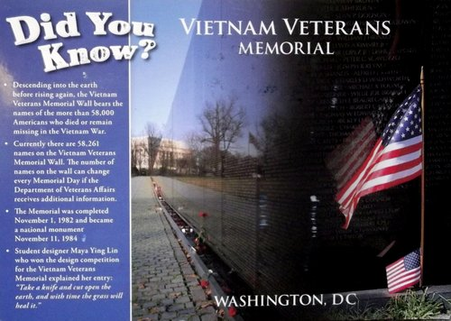 Photograph of the Vietnam Veterans Memorial