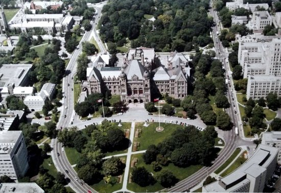 Aerial view of Queen's Park