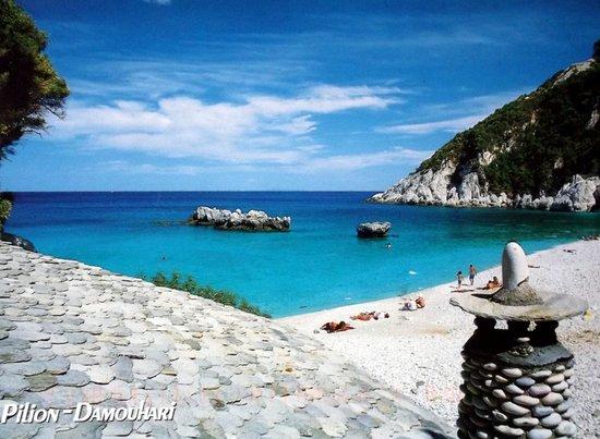 Photo of a pebble beach in Greece