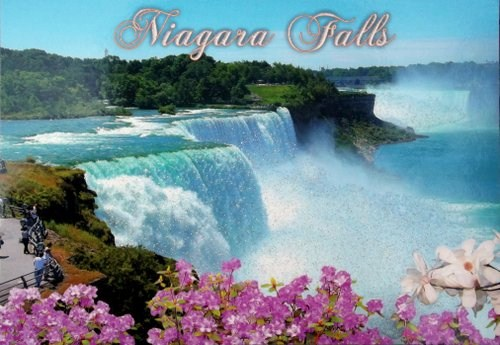 Niagara Falls in Summer and with glitter
