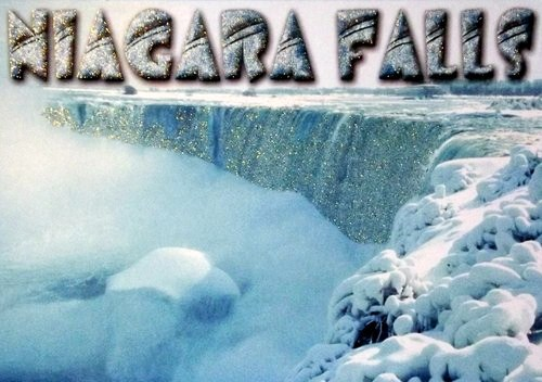 Niagara Falls in winter and with glitter