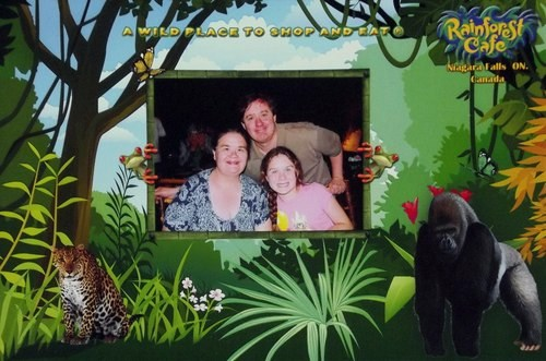 Picture of my family surrounding by a jungle motif