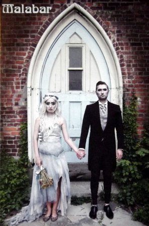 Gothic bridal couple