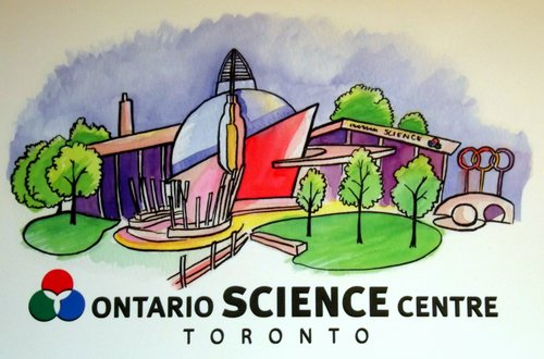 Illustration of the Ontario Science Centre