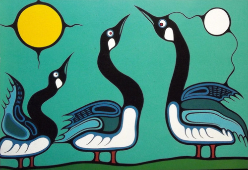 Painting of geese