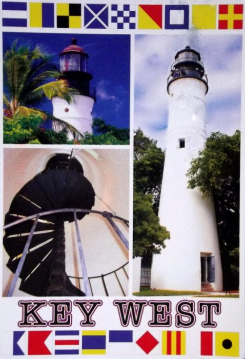 Images of a lighthouse in Key West