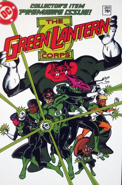 Cover shot of Green Lantern Corp #1