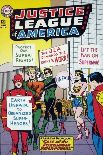 DC superheroes on strike!