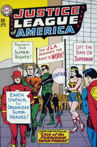 DC superheroes on strike!
