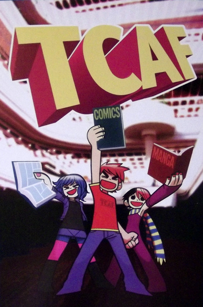 Toronto Comic Arts Festival postcard -with characters from Scott Pilgrim