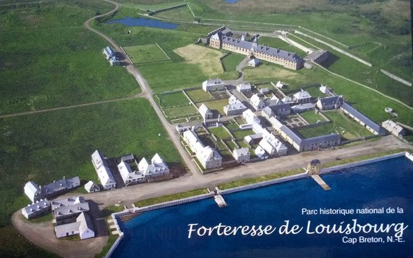 aerial view of the fort's buildings