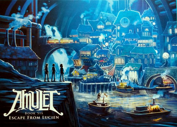 Illustration from the graphic novel Amulet of a subterranean city