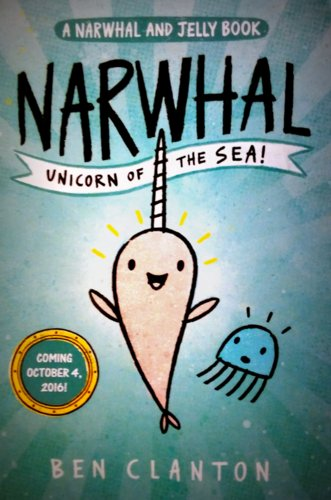 Illustration of a Narwhal promoting the upcoming book