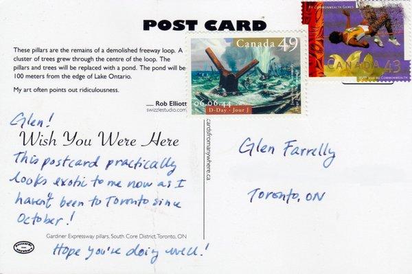 Back of postcards